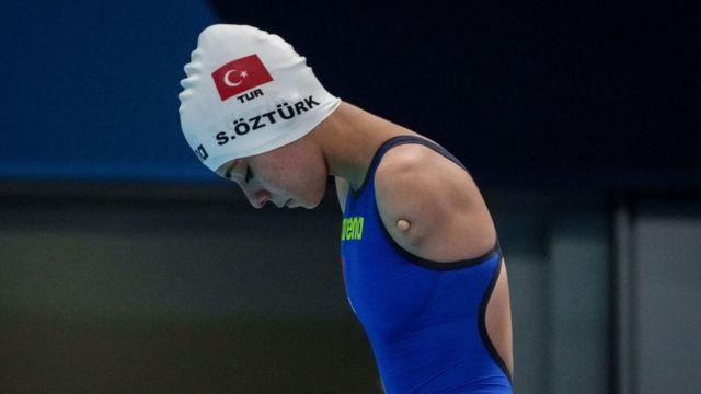 Sevilay Öztürk, serisinde 3.17.30'luk zamanıyla 5 sporcu arasından 4. oldu.