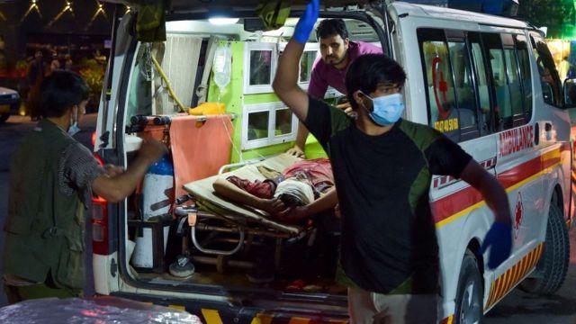 Heridos llegan al hospital.