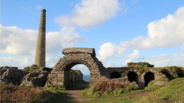 Развалины шахты в Корнуолле
