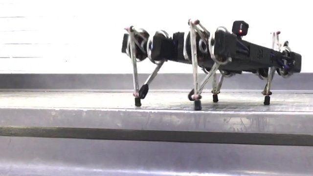 Ghost Minitaur robot climbing stairs