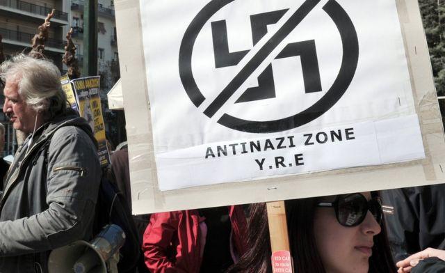 Protestas antiracistas en Atenas.