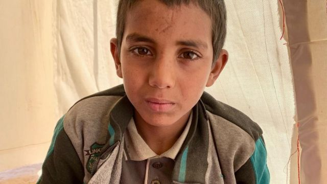 Hamza, IŞİD'in yetim bıraktığı çocuklardan biri. Bundan sonra nereye gideceği belirsiz.