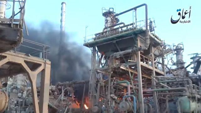 تفجيرات معمل تكرير النفط في بيجي