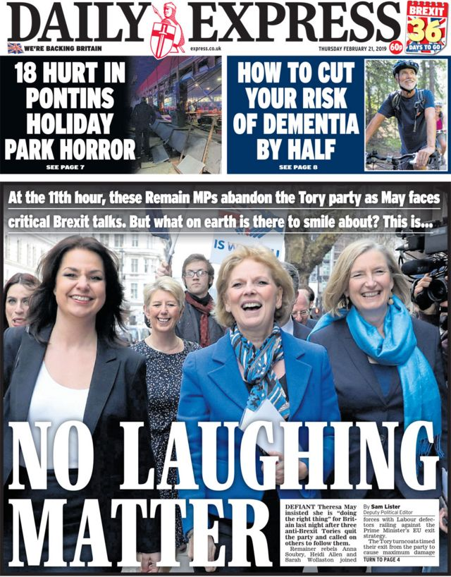 Newspaper headlines: 'I want to kill off Tory party'