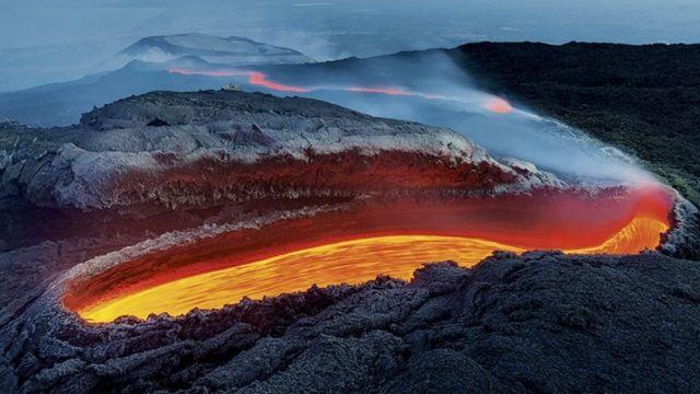 Foto del volcán