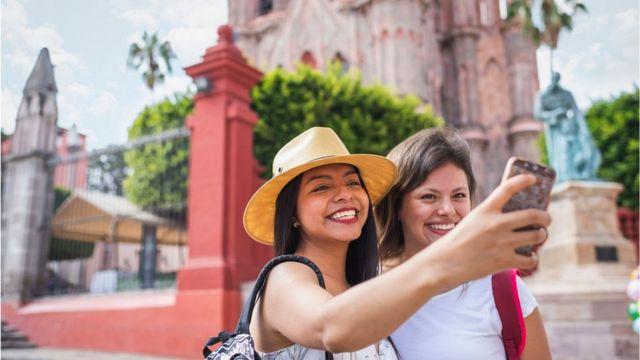 Turistas en Mexico