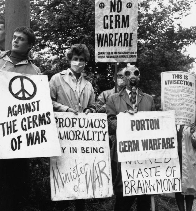 Manifestações contra Porton Down em 1963