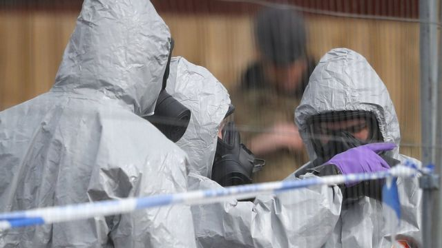 British forensics teams investigating attack on Russian spy and his daughter, on 14 March 2018