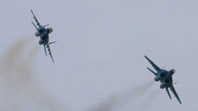 Aviones del ejército de Corea del Norte