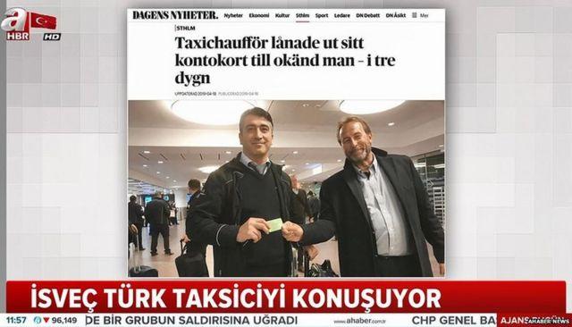 Turkish taxi driver's gesture warms Swedish hearts