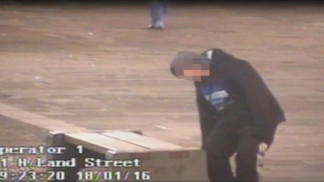 CCTV captures 'legal high' victim