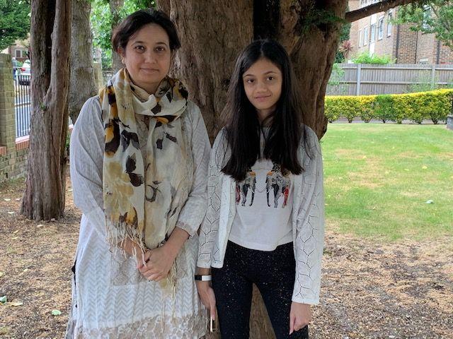 Marium Ahmad and her mum Zainab