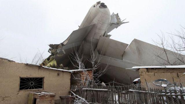 الطائرة المنكوبة في قيرغيزستان
