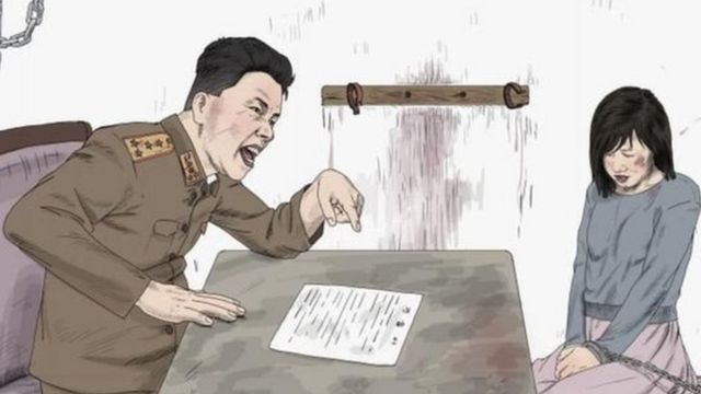 HRW juga menerbitkan ilustrasi terjadinya pelecehan.