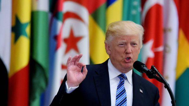 Donald Trump en su gira por Medio Oriente en mayo