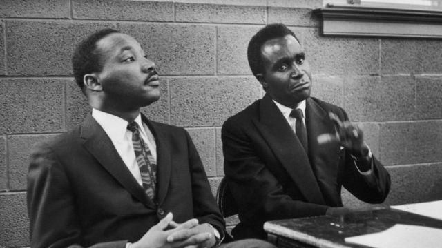 Martin Luther King & Kenneth Kaunda mu 1960