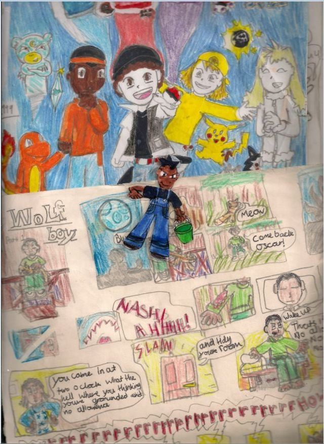 Детские рисунки с темнокожими персонажами Джейкоба Джойса