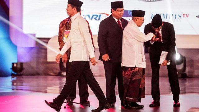 Sandiaga Uno, Prabowo Subianto, Joko Widodo, Ma'ruf Amin