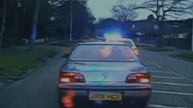 Police chase footage