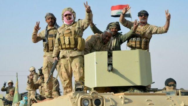 Иракские войска после освобождения Равы