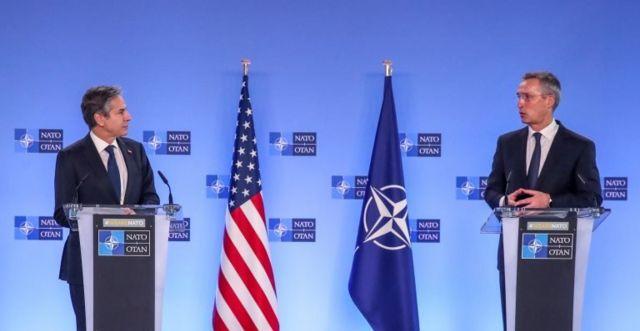 ABD Dışişleri Bakanı Anthony Blinken ve NATO Genel Sekreteri Jens Stoltenberg