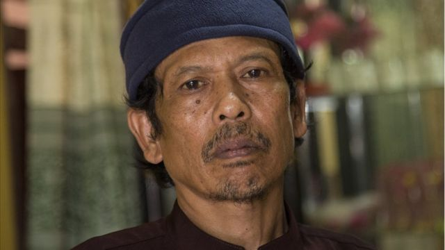 Asria, the father of Siti Aisyah, the Indonesian women arrested in connection with the assassination of Kim Jong-nam