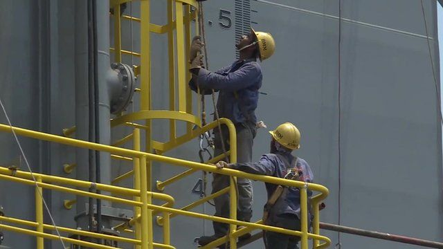 Oil workers