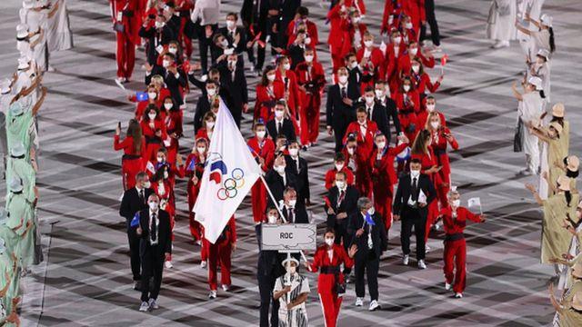 Сборная России на открытии Олимпийских Игр в Токио