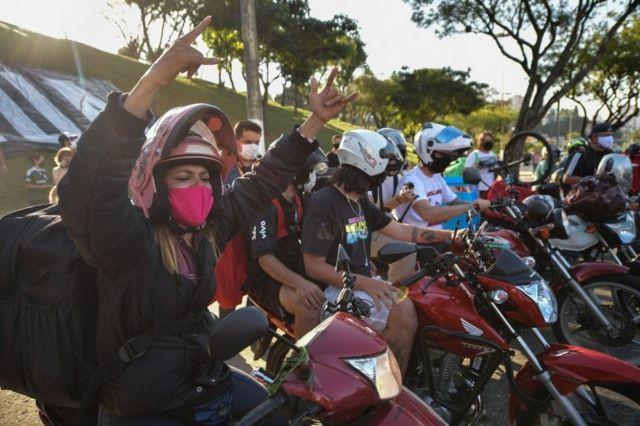 Entregadores voltaram a realizar protestos pelo Brasil no fim de semana
