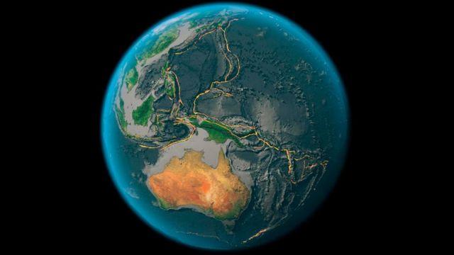 Una vista desde el espacio de la Tierra
