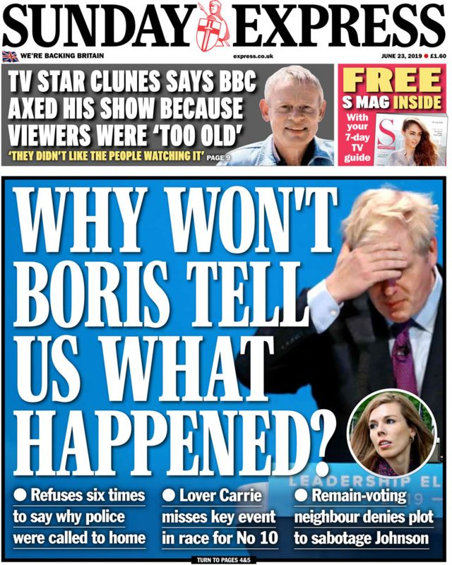 Newspaper headlines: Boris 'partner row' rumbles on across front pages