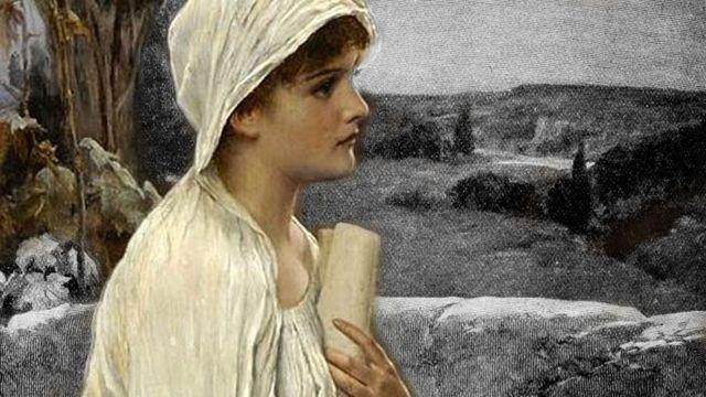 Pintura retratando uma imagem imaginada de Hipatia