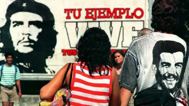 Mural dedicado al Che Guevara en La Habana, Cuba.