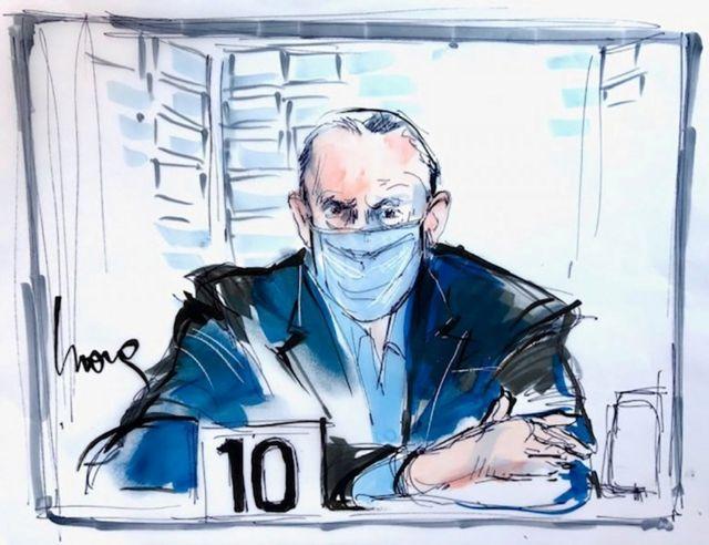 Un dibujo de Salvador Cienfuegos en su audiencia