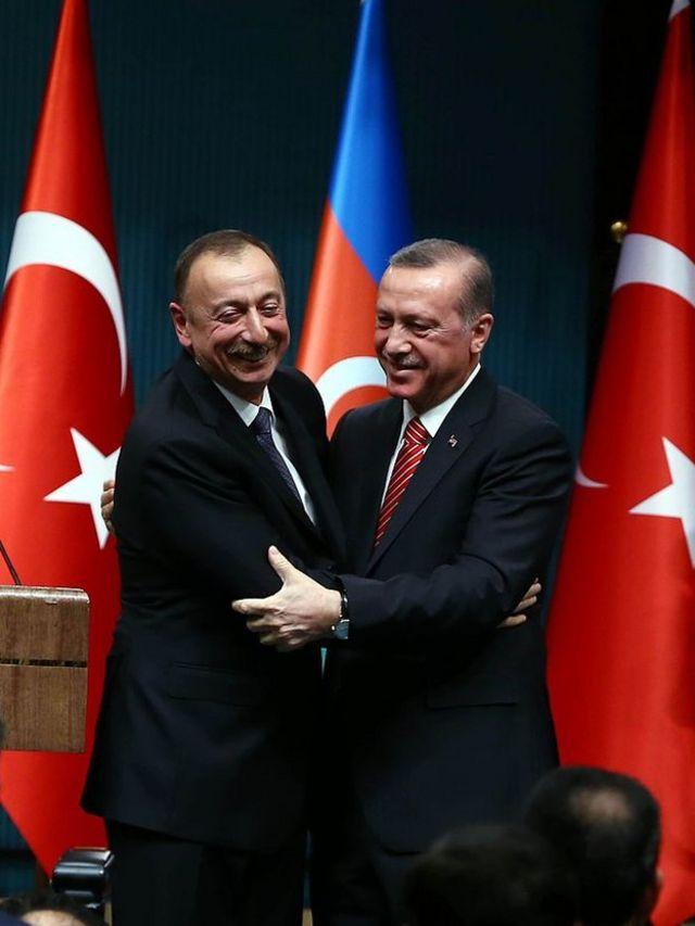 Президент Азербайджана Ильхам Алиев и президент Турции Реджеп Эрдоган