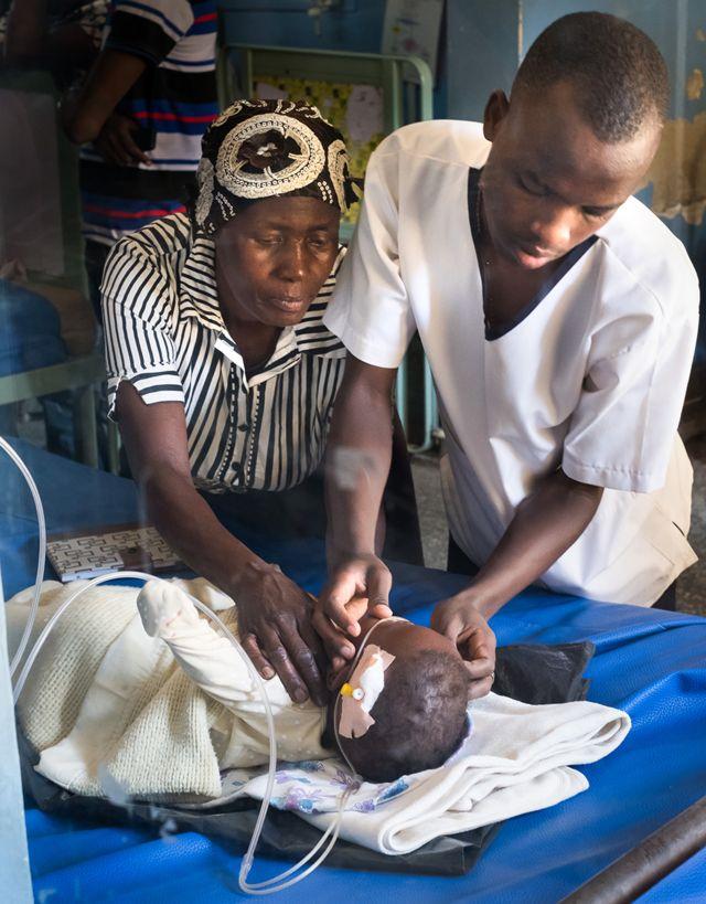 Un enfant est traité par FREO2