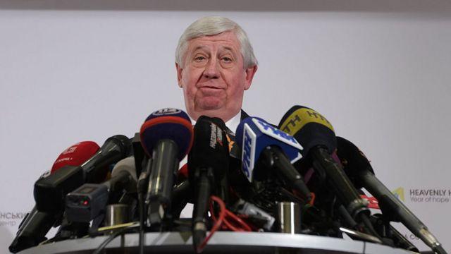 Viktor Shokin at a 2016 press conference