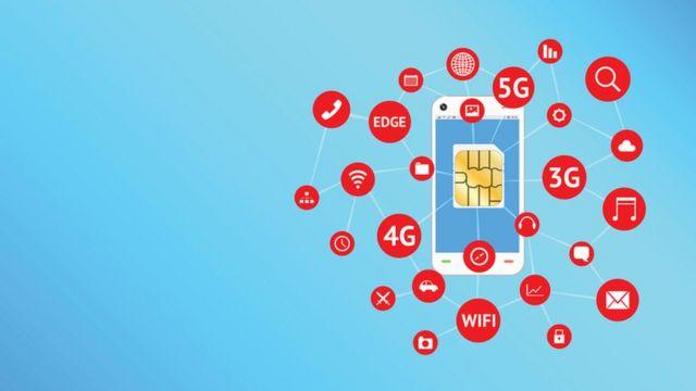 tecnologías 3G, 4G, 5G