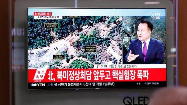 التلفزيون الرسمي بث صور التفجيرات
