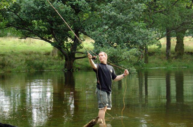 Stephen McGown pescando (Foto: Stephen McGown)