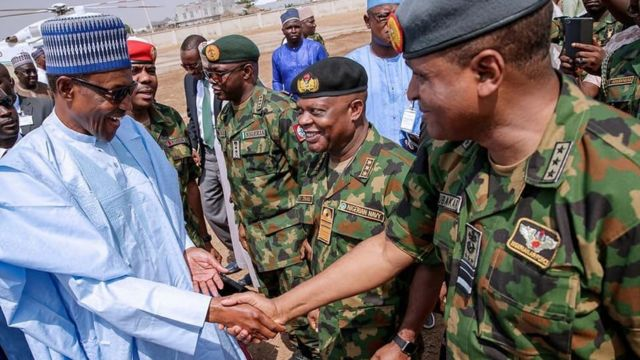 Afta Chibok girls kidnap for April 2014 President Goodluck Jonathan bin give $1bn to fight Boko Haram but di money turn out to be corruption court case wey land Dasuki Sambo for prison
