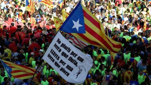протести у Барселоні 11 вересня в День незалежності Каталонії