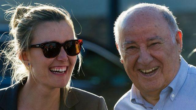 Amancio Ortega y su hija Marta
