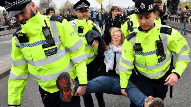 Arrests on Waterloo Bridge