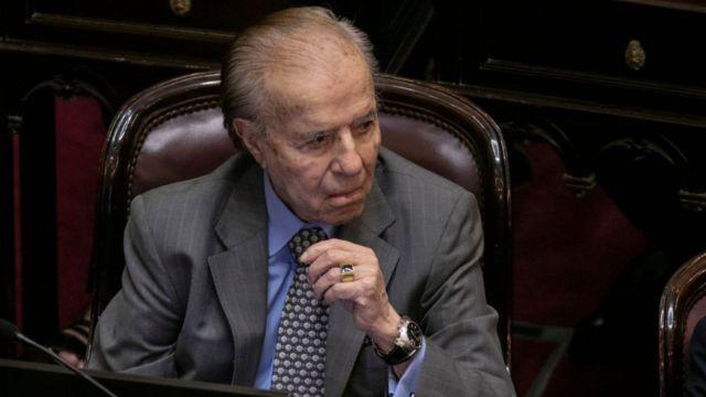 El expresidente Carlos Menem