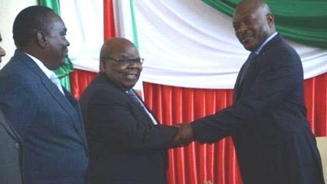 Mkapa na perezida Nkurunziza