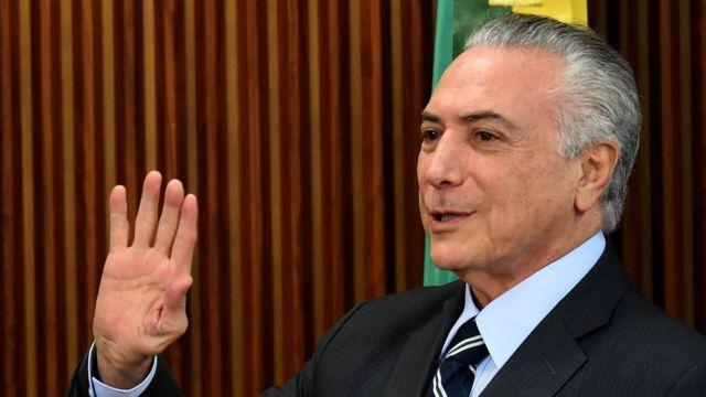 Michel Temer, presidente brasileño en ejercicio.