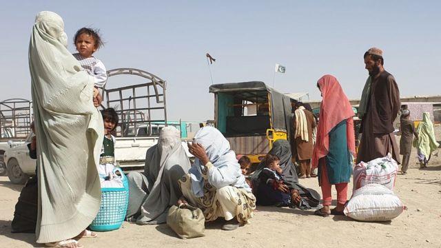 Una familia afgana en la frontera con Pakistán, 27 de agosto 2021