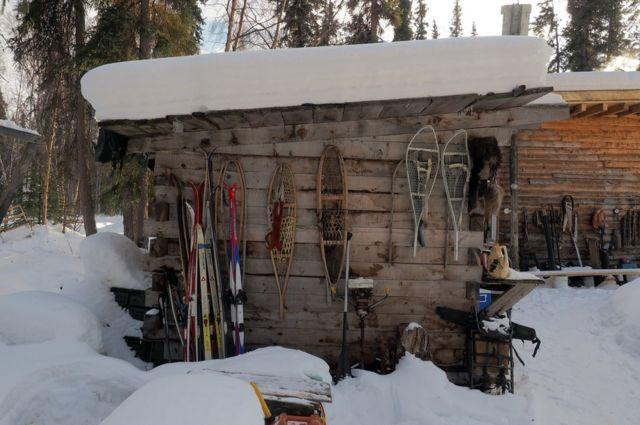 Zapatos de nieve y esquís