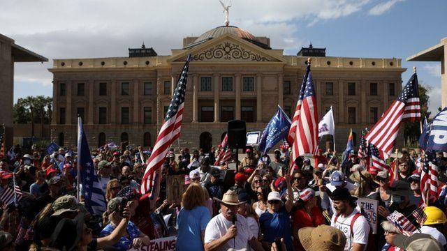 Manifestación pro Trump en Arizona
